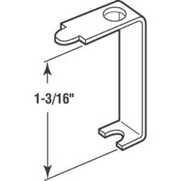 Picture of PL 7748 - Prime-Line Casement Screen Clips, 1-3/16 inch, Aluminum, 12 Clips w/Screws