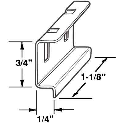 Picture of PL 15550 - Prime-Line Spline Channel Pull Tab, Aluminum, 25 per tub
