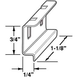 Picture of PL 15550 - Prime-Line Spline Channel Pull Tab, Aluminum, 25 per tub