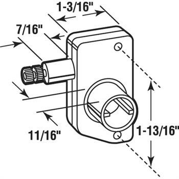 r 7022 rv window slant sill mini operator left hand System Diagram