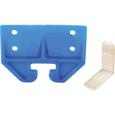 "Picture of R 7083 - Drawer Track Guide Kit, 3/4"", Plastic, Blue, w/Side Saddles"