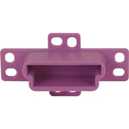 "Picture of R 7133 - Drawer Track Backplate, 1-1/4"", Plastic, Purple"