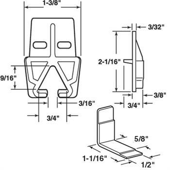 R 7142 Drawer Track Guide Kit