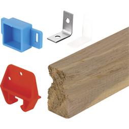 Picture of R 7144 - Wood Drawer Track Repair Kit, Wood Track, Plastic Guides