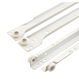 "Picture of R 7213 - Drawer Slides, 21-3/4"", Metal, White, Bottom Mount"