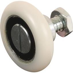 "Picture of R 7228 - Drawer Slide Roller, 1-1/8"" Nylon, Ball Bearing"