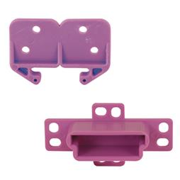 """Picture of R 7229 - Drawer Track Back Plate & Guide, 2-3/4"""", Plastic, 5 pc. ea."""