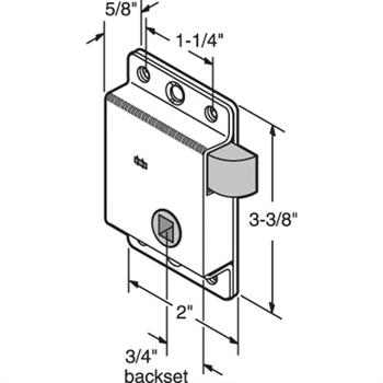 R 7262 - DOOR SLAM LATCH, LEFT HAND, STAMPED STEEL, ZINC PLATED