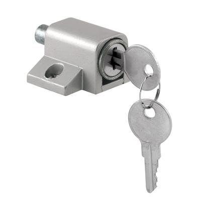 """Picture of S 4004 - """"keyed"""" Patio Door Lock (heavy Duty-aluminum)"""