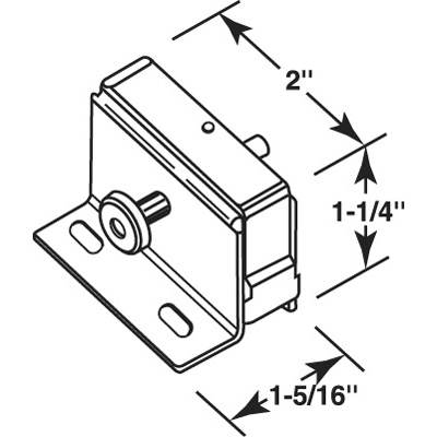 "Picture of S 4008 - ""step-on"" Patio Door Lock (aluminum)"