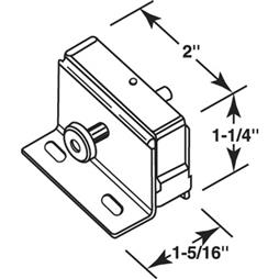 "Picture of S 4008 - ""step-on"" Patio Door Lock (aluminum)"