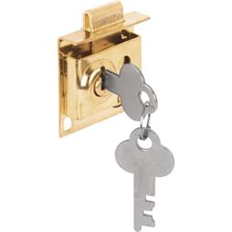 Picture of S 4049 - Mail Box Lock, 5/16 in. Throw, Steel, Brass Plated