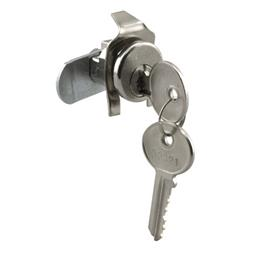 Picture of S 4133 - Mail Box Lock, 5 Pin, Cutler, Nickel Plated, Cntr-Clockwise