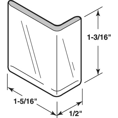 Picture of S 4212 - DOOR EDGE GUARD, ADHESIVE BACKED, CLEAR PLASTIC
