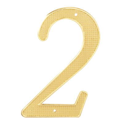"""Picture of S 4282 - 4"""" BRASS FINISH NUMBER """"2"""""""