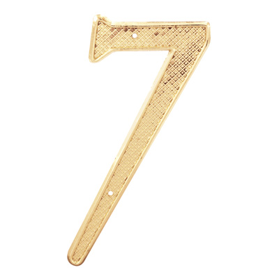 """Picture of S 4287 - 4"""" BRASS FINISH NUMBER """"7"""""""