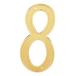 "Picture of S 4288 - 4"" BRASS FINISH NUMBER ""8"""