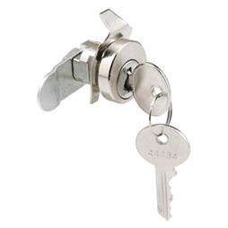 Picture of S 4303 - 5 Pin Mail Box Lock, Bommer, w/Dust Cover, Nickel, CCW