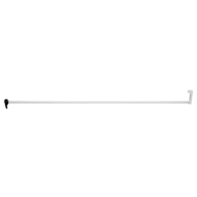 """Picture of S 4632 - SLIDING DOOR SECURITY JAMB BAR, 48"""", WHITE"""
