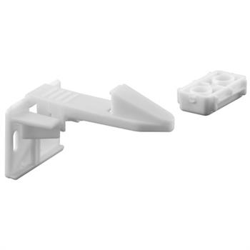 S 4719 - Spring Loaded Cabinet Catch, White