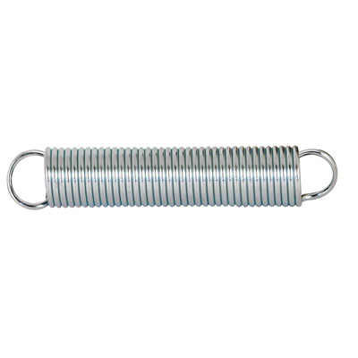 Picture of SP 9608 - Extension Spring, 7/16 inch x 2-1/2 inches x .047 Wire Diameter, Spring Steel, Single Loop, Closed, Pack of 2