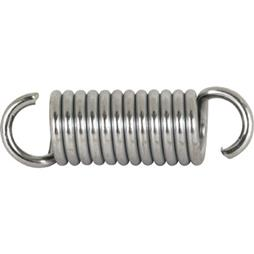 Picture of SP 9613 - Extension Spring, 1/2 inch x 1-5/8 inches x .080 Wire Diameter, Spring Steel, Single Loop, Open, Pack of 2