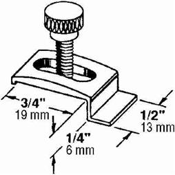 Picture of PL 14753 - Prime-Line Storm Door Panel Clips, 1/4 inch , Aluminum, White, 25 per tub