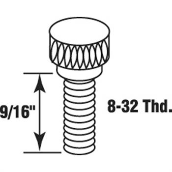 """Picture of T 8511 - Storm Door Panel Clip Thumbscrews (9/16"""" White Finish)"""