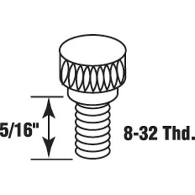 Picture of PL 14762 - Prime-Line 5/16 inch Storm Clip Thumbscrews, Aluminum, 25 per tub