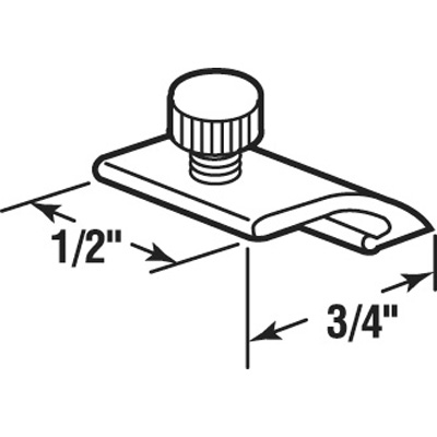 Picture of K 5329 - Storm Door Panel Clips, Exturded, Flush, 11/16 inch Long, Pack of 8