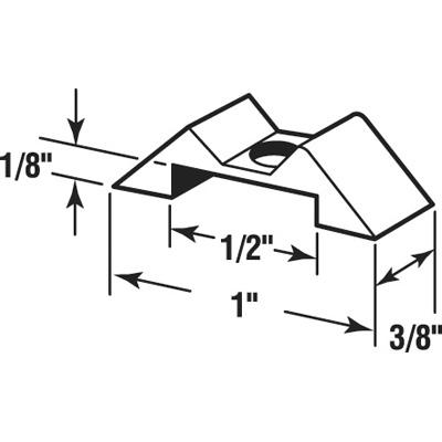 Picture of PL 14840 - Prime-Line 1 inch Storm Door Panel Clips, Aluminum, Mill, 25 pieces per tub