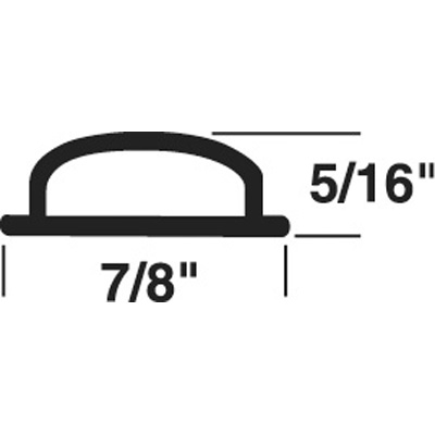 Picture of T 8703 - Door Threshold Insert, 7/8 inche x 5/16 inche x 37 inches, Gray, Pack of 1