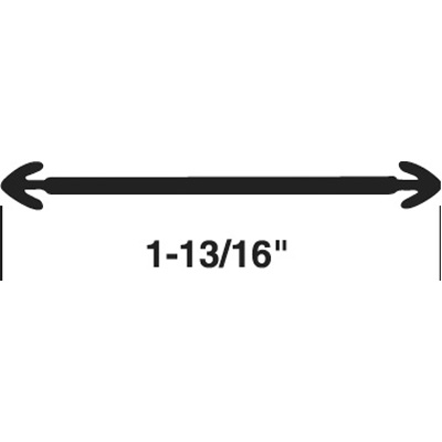 Picture of T 8709 - Door Threshold Insert, 1-13/16 inches, 37 inches in Lenght, Gray, Pack of 1