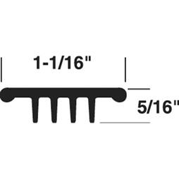 """Picture of T 8712 - DOOR THRESHOLD INSERT, 37"""", GRAY"""