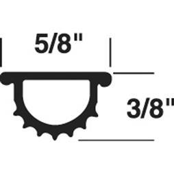 """Picture of T 8716 - DOOR THRESHOLD INSERT, 37"""", GRAY"""