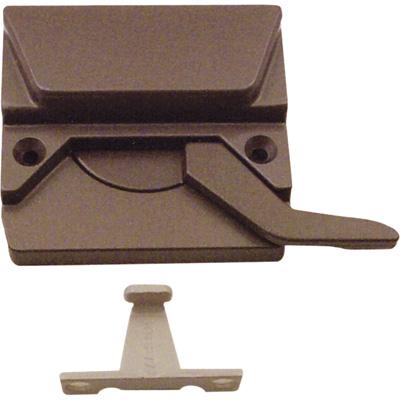Picture of TH 23044 - EntryGard Sash Lock, Left Hand, Bronze, Keeper & Screws, 1 per pkg.