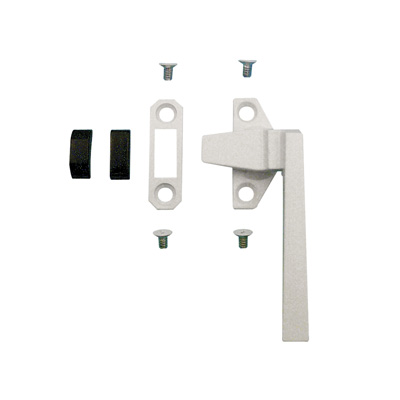 Picture of TH 23060 - Trimline Locking Handle, Right Hand, White, Keeper, Diecast, 1 per pkg.