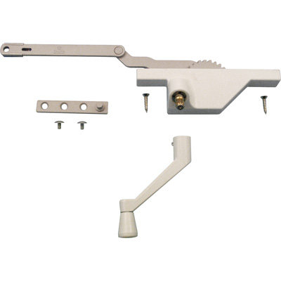 Picture of TH 23091 - Dyad Operator, Face Mount, LH,  White, Crank Handle, Stud Bracket, 1 set per pkg.