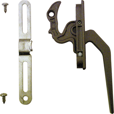 Picture of TH 23093 - Casement Locking Handle, Diecast, Bronze, Keeper, 1 per pkg.