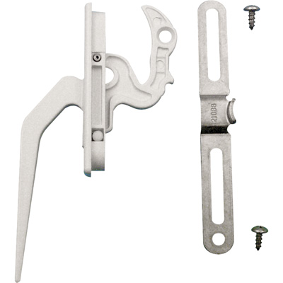 Picture of TH 23094 - Casement Locking Handle, Diecast, White, Keeper, 1 per pkg.