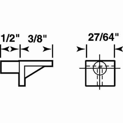 Picture of U 10004 - Shelf Support Peg, 5mm Diameter Peg, Brown Plastic, Pack of 12