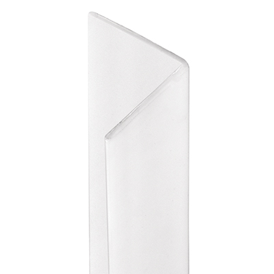 Picture of U 10066 - Corner Shield, White Vinyl, 3/4 by 3/4 by 48 inches, Pre-Applied Self-Adhesive Tape