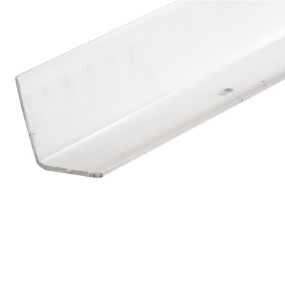 Picture of U 10068 - Corner Shield, Clear Vinyl, 2-1/2 by 2-1/2 by 48 inches, Pre-Drilled Mounting Holes