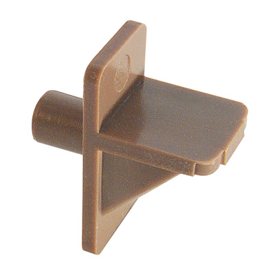Picture of U 10137 - Shelf Support Peg, Brown Plastic, 1/4 inch Diameter Peg, Pack of 8