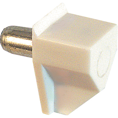 Picture of U 10161 - Shelf Support Peg, White Plastic, with a 5 mm Diameter Steel Peg, Pack of 8