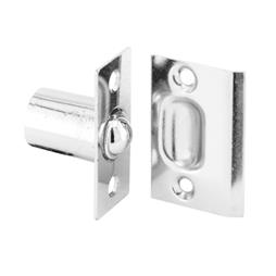 Picture of U 10288 - Ball Bullet Catch and Strike, Chrome Plated Steel. Fits 1 inch and Above Panels.
