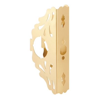 Picture of U 10289 - 9 in. Brass Scroll-Style Door Guard