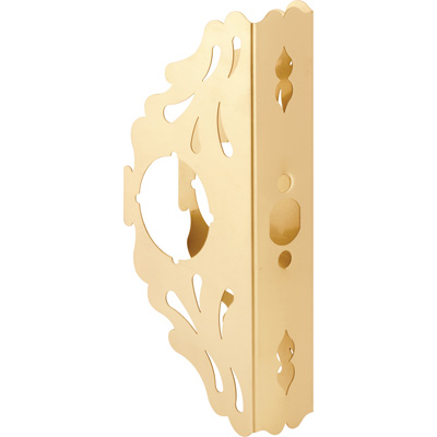 Picture of U 10290 - 9 in. Brass Scroll-Style Door Guard