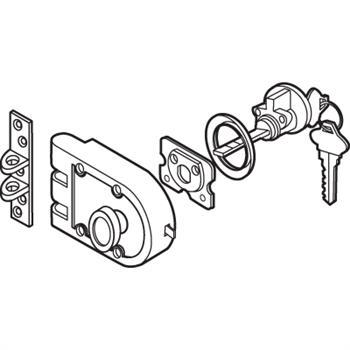 U 10530 Solid Bronze Jimmy Resistant Single Cylinder