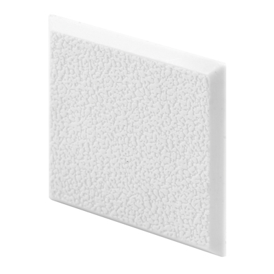 Picture of U 10866 - Wall Protector, Rigid, White Vinyl, 2 inch Square, Pack of 2